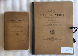 Manuel De PALÉOGRAPHIE Latine Et Française + Album Avec 24 Planches - 1924 - M Prou & De Boüard - 2 Tomes - 1901-1940