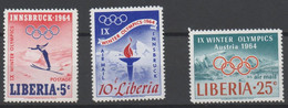 Jeux Olympiques D'hiver -Winter Olympics Games 1964 XXX - Liberia