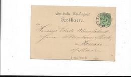 Karte Aus Aue Nach Hanau 1887 - Storia Postale