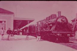 Photo Diapo Diapositive Slide Train Locomotive Vapeur 3158 EST à 54 Igney Avricourt En 1910 VOIR ZOOM - Diapositives (slides)