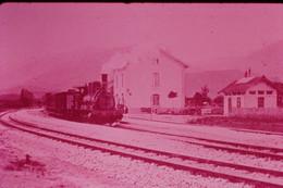 Photo Diapo Diapositive Slide Train Locomotive Vapeur 897 Midi à 66 Caudiès En 1908 VOIR ZOOM - Diapositives (slides)