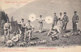 Gruss Vom St. Gotthard ! Beobachter Beim Signaldienst - Sonstige