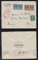 France 1930 Registered Cover PARIS To OSLO Norway - 1921-1960: Modern Tijdperk