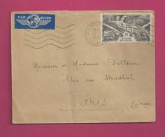 Lettre De 1952 Pour La France. YT N° PA N° 35 - Anniversaire De La Victoire - Storia Postale