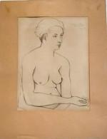Portrait De  SUZANNE  VALADON  Par ANDRE UTTER - Unclassified