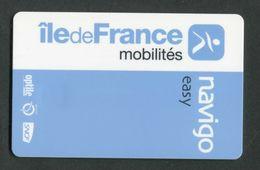 """Carte De Métro Parisien - Ticket De Métro De Paris """"Grande Puce"""" Navigo Easy RATP / SNCF - Europa"""