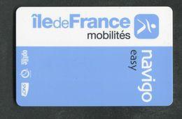 """Carte De Métro Parisien - Ticket De Métro De Paris """"Petite Puce"""" Navigo Easy RATP / SNCF - Europa"""
