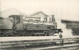 LOCOMOTIVE - N°103, Photo Format Carte Ancienne. - Trains