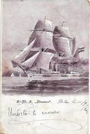 "AK OLD POSTCARD WWI AUSTRIA K.U.K. KRIEGSMARINE S.M.S. ""ALBATROS"" - VIAGGIATA POLA 1902 - A58 - Guerra"