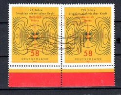 BRD, Bund 2013: MiNr.3036, O Gestempelt , Paar  Heinrich Hertz, S. Scan - Usati