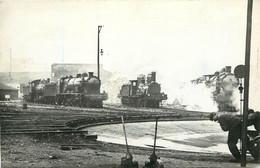 LOCOMOTIVE - N° 3534, Dépôt PO Vers 1912  (ancien Retirage Photo Format Carte Ancienne) - Trains