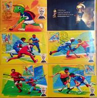 India - 2018 - Hockey Men's World Cup, Bhubaneswar - Set Of 5 Maxim Cards. - Hockey (Field)