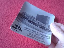 ASCHENBECHER ANTIGUO CENICERO ASHTRAY CENDRIER HOTEL AMÉRICA IGUALADA BARCELONA ESPAÑA GRAN BAR RESTAURANTE RESTAURANT.. - Metal