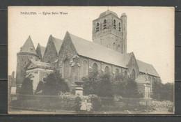 France - 1 CP De BAILLEUL - Eglise Saint-Waast (ou Saint-Vaast) Avant 1918 Et Sa Destruction Par Les Alliés - Autres Communes