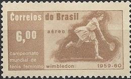 BRAZIL 1960 Air. Maria Bueno's Wimbledon Tennis Victories, 1959-60 - 6cr - Maria Bueno In Play MNH - Luchtpost
