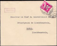 Völkerbund (SDN) 38 Abrüstungskonferenz Auf Brief GENF 9.6.1934 Nach Vaduz - Officials