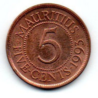 Ile Maurice - 5 Cents 1993 - SUP - Mauritius