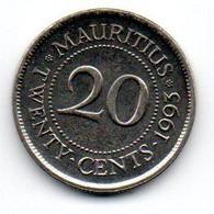 Ile Maurice -  20 Cents 1993 - SUP - Mauritius