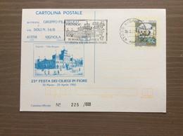 Cartolina Postale 23^ Festa Dei Ciliegi In Fiore Vignola Targhetta 30-03-1992 - Demonstrationen