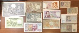 Belgio 12 Banconote Da 100 Francs Ad 1 Franc 1915-1994 LOTTO Conservazine Medio Bassa Lotto.083 - [ 9] Collections