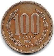 *chile 100 Pesos 1985 Km 226.1  Vf - Chili