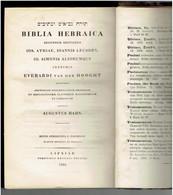 BIBLIA HEBRAICA 1896 AUGUSTUS HAHN BIBLE HEBRAIQUE EN HEBREU LEIPZIG TANAKH TANAK TORAH JUDAICA JUIF RABBIN JUDAISME - Oude Boeken