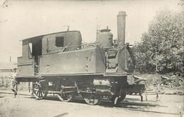LOCOMOTIVE -  à Identifier,(ancien Retirage Photo Format Carte Ancienne) - Trains