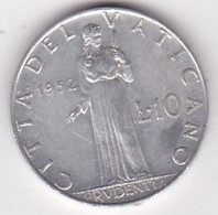 Vatican 10 Lire 1952 Année XIV Paul XII, En Aluminium,  KM# 52.1 - Vatican
