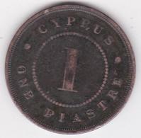 Chypre 1 Piastre 1885 Victoria, En Bronze , KM# 3 - Chipre