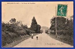 ***TRES RARE CPA 76 DUCLAIR (S.-Inf.) - La Route De Caudebec - Duclair