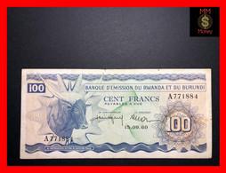 RWANDA - BURUNDI  100 Francs  15.9.1960   P. 5  *rare*   VF - Rwanda