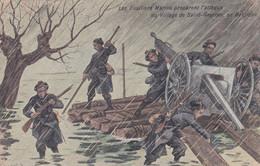 Les Fusiliers Marins Préparent L'attaque Du Village De Saint-Georges En Belgique Canon - War 1914-18