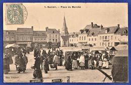 ***TRES RARE CPA 76 DUCLAIR - Place Du Marché - Duclair