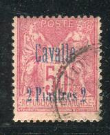 Cavalle - N° 7 Surcharge 2 Piastres Sur 50ct Sage Obl, Cote 65€ - T30 - Oblitérés