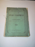 Aalst 1886 Vandersmissen Assisenproces Volksvertegenwoordiger Moord - Historical Documents