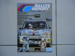 POSTER - FOLDER / DEPLIANT 82 X 59 Cm RALLYE PEUGEOT 205 TURBO 16 / GTI, MICHELE MOUTON 1985-1986 - Car Racing - F1