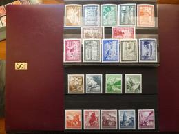 ALLEMAGNE 2 Série Années 1938 Et 1939 Séries Complètes  Neufs Sans Charnière Cote 185 € - Unused Stamps