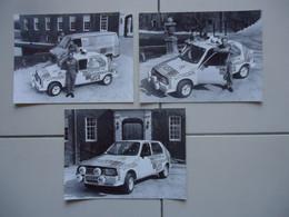 3 X PHOTO De Presse CITROEN VISA TROPHEE RALLYE ( 1982 ) - Cars