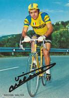 CARTE CYCLISME WALTER RICCOMI SIGNEE TEAM SAMMONTANA 1974 - Radsport