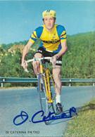 CARTE CYCLISME PIETRO DI CATERINA SIGNEE TEAM SAMMONTANA 1974 - Radsport