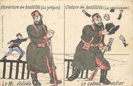 GUERRE ENTRE LA RUSSIE ET LE JAPON -carte Illustrée Par Gaillard, Ouverture Et Clôture Des Hostilités. - Rusia