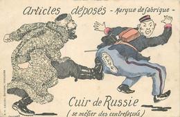 GUERRE ENTRE LA RUSSIE ET LE JAPON -carte Illustrée Par Gaillard, Articles Déposés, Cuir De Russie. - Rusia