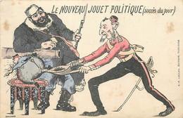 GUERRE ENTRE LA RUSSIE ET LE JAPON -carte Illustrée Par Gaillard, Le Nouveau Jouet Politique . - Rusia