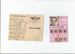 Carte D'abonnement Tramway Electrique Genevois 1958 CGTE Réseau Urbain - Europa
