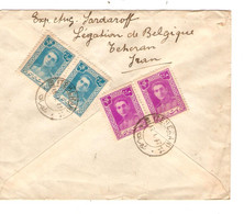 REF2993/ Iran (Persia) Registered Air Mail Cover 1947 > Ostende Belgium - Iran