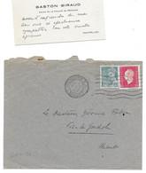 1945 MONTPELLIER - GASTON GIRAUD DOYEN FACULTE DE MEDECINE AU DOCTEUR FABRE A VIC LA GARDIOLE - CDV - Unclassified