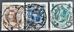 RUSSIA 1913 - Canceled - Sc# 92, 93, 94 - Oblitérés