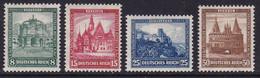 German Reich, 1931, Nothlfe, Buildings, Mi. 459/52, Hinged - Ongebruikt