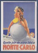 Quelle Joie De Vivre L'été à Monte Carlo Timbre Monaco 2437 De 2004, Affiche Ancienne 1948, Illustration Louis Icard - Francobolli (rappresentazioni)