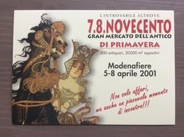 Cartolina In Bianco 7.8.novecento Di Primavera Modena 05-08/04/2001 - Demonstrationen